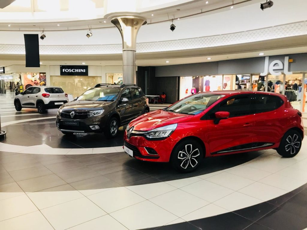 Boulders Mall - Renault vehicles on display