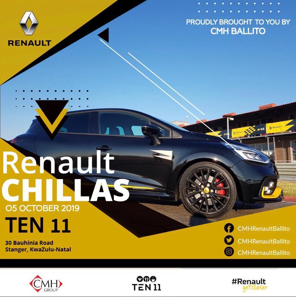 CMH Renault sponsering Chillas Banner Image