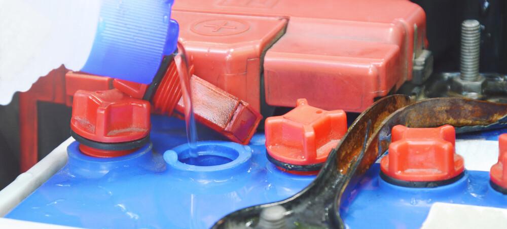 Refill car battery in winter